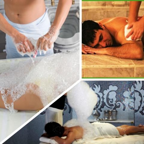 Как сделать мыльный массаж 823